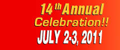 13th Annual Celebration July 3-4, 2010